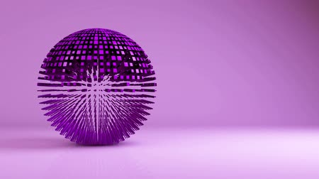 orbe : Animation of sphere geometric background - transformation, transition