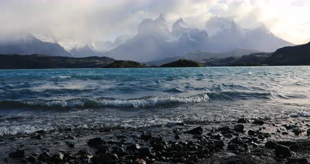 estepe : Lake Pehoe at dawn. Torres del Paine, Chile