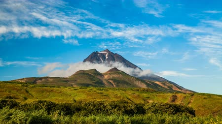 volcanology : Beautiful mountain landscape on Kamchatka Peninsula: view of Viliuchinsky Volcano