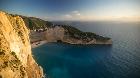 naufragio : Grecia. Navagio Archivo de Video