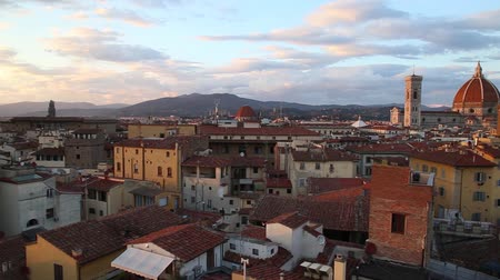 vecchio : FLORENCE SUNSET PANORAMIC Stock Footage