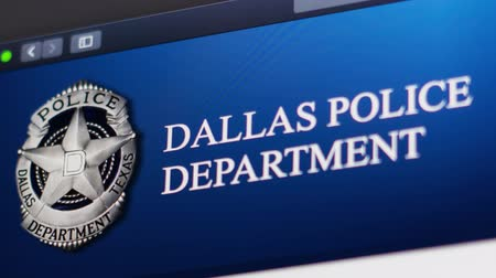 opsporing : Miami  USA - 11052019: Dallas Police Department website homepage. Close up of Police Dept logo. Can be used as illustrative for news media or other websites.
