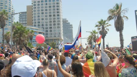 activist : Tel Aviv, Israel , 8 June 2018 Gay Pride Parade for human rights