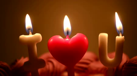 I Love You Candle on Birthday Cake
