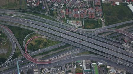 Aerial View of Expressway in Bangkok Thailand Stock Footage