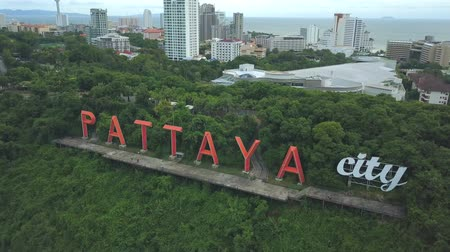 Aerial view of label symbol at Pattaya city, Thailand
