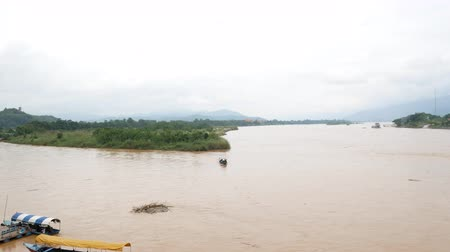 saen : Mekong River In The Golden Triangle At Chiang Rai, Thailand.