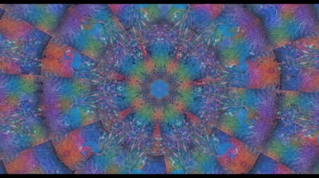 peyote : Colorful Kaleidoscopic Video Background. Colorful kaleidoscopic patterns. Zoom in rainbow color circle design. Or for events and clubsmedallion,peacock, india, arabic, mandala, fractal animation