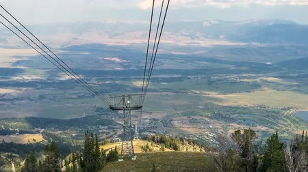 jackson hole wyoming : View from the top of mountain ridge over Teton Village