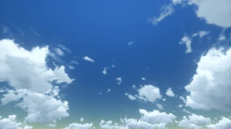 napos : White clouds disappear in the hot sun on blue sky. Time-lapse motion background