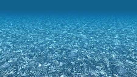 High quality Looping animation of ocean waves from underwater with floating plancton. Light rays shining through. Great popular marine Background