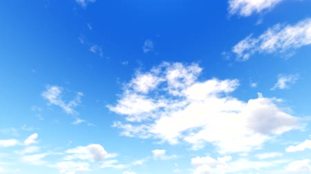 White clouds disappear in the hot sun on blue sky. Time-lapse motion background
