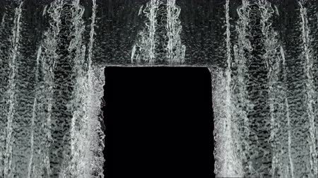 Waterfall texture loop 4K with, isolated on black with alpha.