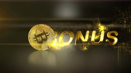won : Golden business text with gold particle on a luxury background
