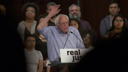 EDUCATE THOSE KIDS. Bernie Sanders stresses importance of education over incarceration. June 2nd, 2018 at the Rally for Justice in downtown Los Angeles, California.