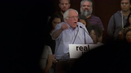 SPEND ON THE CHILDREN. Bernie Sanders urges money to be spent on education and not jails. June 2nd, 2018 at the Rally for Justice in downtown Los Angeles, California.