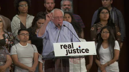 Innocents on Death Row. Bernie Sanders says murder by the state is uncivilized. June 2nd, 2018 at the Rally for Justice in downtown Los Angeles, California.