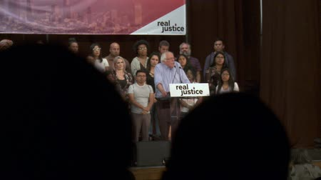 president of united states : POLITICAL RAMIFICATIONS. Bernie Sanders talks about the difficulty of criminal justice reform. June 2nd, 2018 at the Rally for Justice in downtown Los Angeles, California.