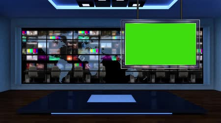 news tv : This background is designed to be used as a virtual background in a green screen or chroma key video production, playing in seamless loop. Stock Footage
