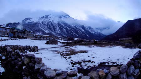 dole : Timelapse sunset in the mountains Himalayas, Dole village, Nepal. Full HD