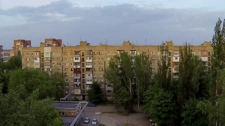 diurnal : Clouds over the city. diurnal motion, Makeevka, Novorossia Full HD. (time lapse) Stock Footage