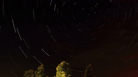 startrails : Motion of the stars, the constellation Ursa Major, Full HD. (Time Lapse) Stock Footage