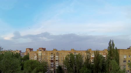 diurnal : Clouds over the city. diurnal motion Makeevka Novorossia Full HD. time lapse