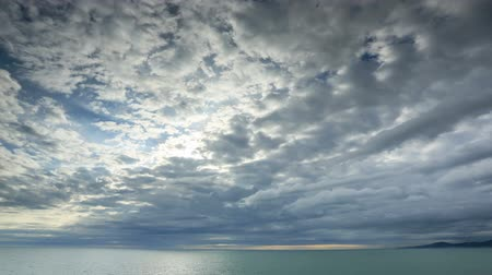mar vermelho : Timelapse sunset on the Black sea. Adler, Russia. Full HD Vídeos