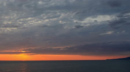 večer : Timelapse sunset on the Black sea. Adler, Russia. Full HD. Dostupné videozáznamy