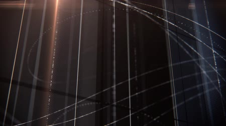 vonal : abstract dark grid lines and dots animation with lensflare