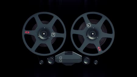 ses : Parts of old tape recorder 3d animation
