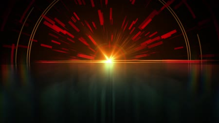 jiskří : Dark abstract background arc lines and circles animation with lens flare and reflection