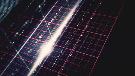 сетка : abstract dark grid lines and dots animation with lens flare