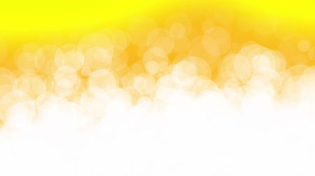 sima : Abstract white circle particles animation on yellow background