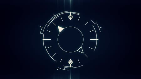 pusula : Abstract compass symbol flat animation on dark background