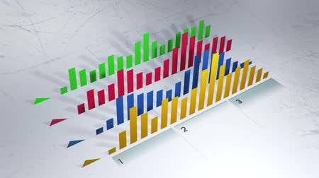 infografik : Abstract colorful infographic chats animation with different values. Stok Video