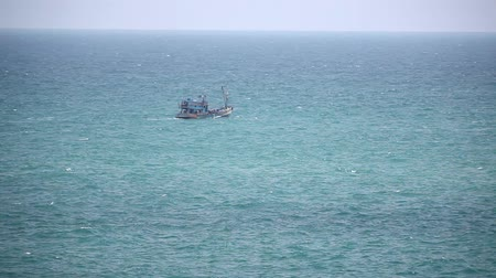 fishing industry : Fishing ship in open sea