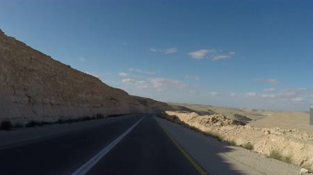 toll : Timelapse of driving through the Negev desert in Israel Stock Footage