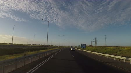 toll : Timelapse of driving through the highway 6 in Israel
