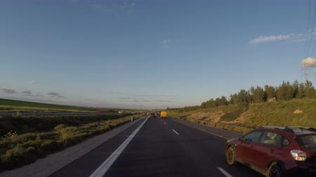 příjezdová cesta : Timelapse of driving through the highway 6 in Israel