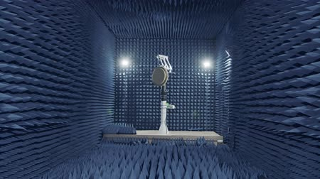 střela : Testing a of a Radar in an anechoic chamber