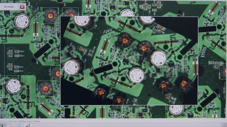 integrovaný : Visual and 3D inspection of a computer circuit board using laser scanning