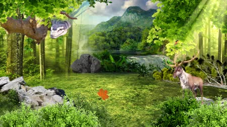 Virtual Forest Scene with animal