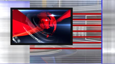 television set : virtual set news right