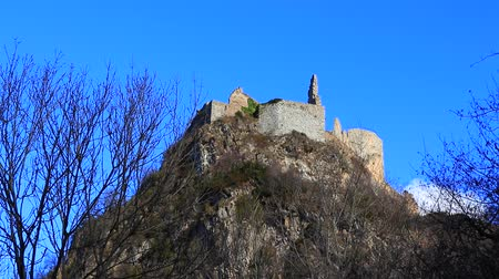 ariege : Castle of Usson in Ariege, Occitania in south of France