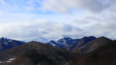 ariege : Timelapse of Pyrenean mountain in Ariege, Occitania in south of France Stock Footage