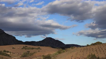 roussillon : Timelapse of landscape in Fenouilledes, Pyrenees orientales in south of France