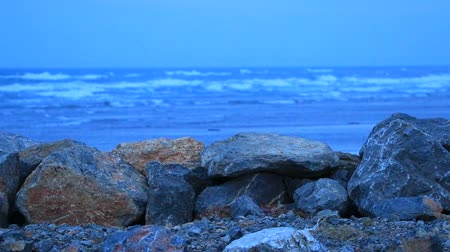 плотина : rock dike in front of the Mediterranean Sea