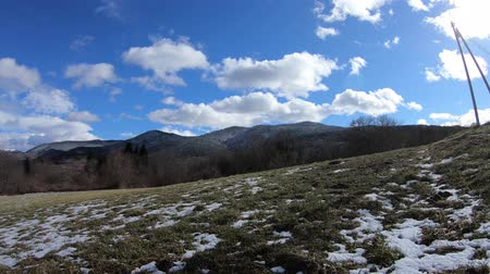 occitania : Discovery of a winter meadow in the Pyrenees, Aude in south of France