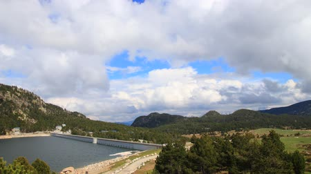 capcir : Timelapse of pyrenean lake of Bouillouses in Capcir, Roussillon in southern of France